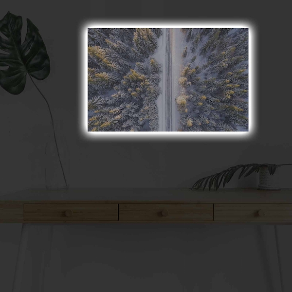 4570DHDACT-133 Multicolor Decorative Led Lighted Canvas Painting