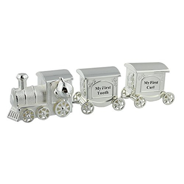 Celebrations Silverplated Train First Tooth & Curl Set
