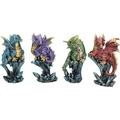 Dragonling Brood (Pack Of 4) Dragon Figures