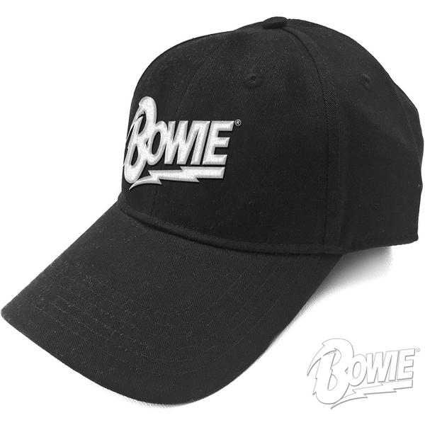 David Bowie - Flash Logo Men's Baseball Cap - Black