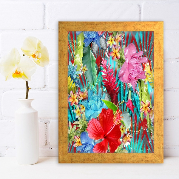 AC316140269 Multicolor Decorative Framed MDF Painting