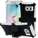 YouSave Accessories Samsung Galaxy S6 Edge Kickstand Combo Case - White