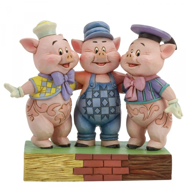 Squealing Siblings (The Three Little Pigs) Disney Traditions Figurine