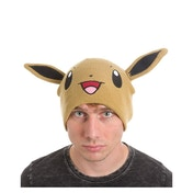 Pokemon Unisex Eevee Face & Ears Cuffless Beanie - Brown