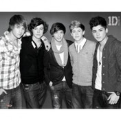 One Direction Black & White Mini Poster
