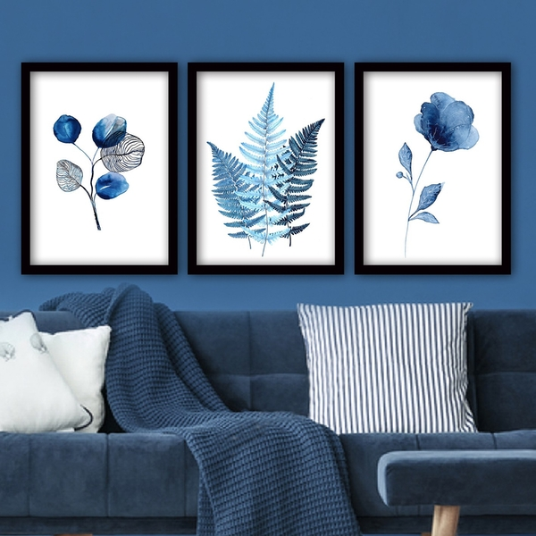 3SC158 Multicolor Decorative Framed Painting (3 Pieces)
