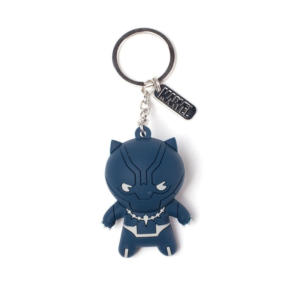 Marvel Comics - Black Panther Kawaii Keychain - Blue