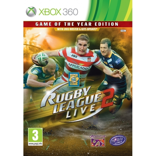 Rugby League Live 2 Game Of The Year (GOTY) Edition Game Xbox 360