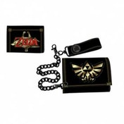 Nintendo Zelda Leather Trifold Chain Wallet