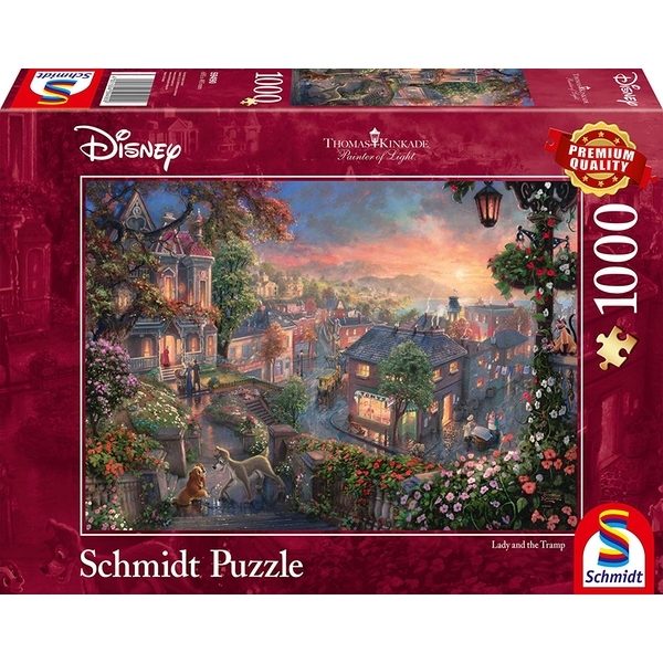 Thomas Kinkade Disney Lady and the Tramp 1000 Piece Jigsaw Puzzle