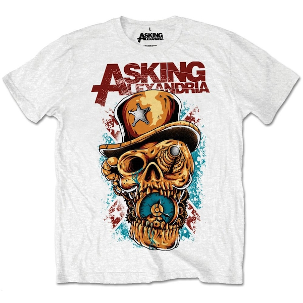 Asking Alexandria - Stop The Time Unisex X-Large T-Shirt - White