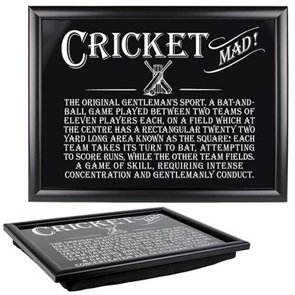 Ultimate Gift for Man Lap Trays Cricket