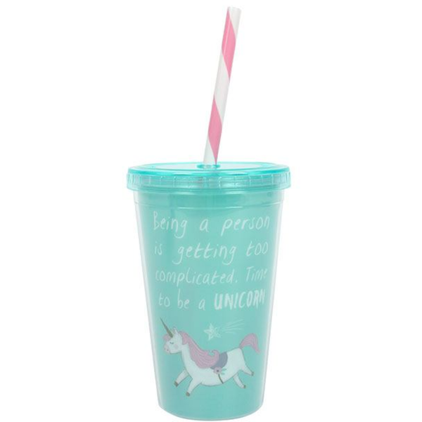 Time to be a Unicorn Drinking Cup