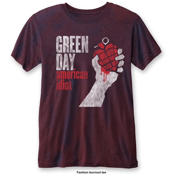 Green Day - American Idiot Vintage Unisex Medium T-Shirt - Blue,Red
