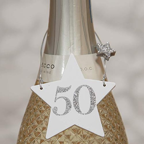Milestones Star Wine Bottle Tag - 50