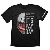 PAYDAY 2 Men's Chains Mask Large T-Shirt, Black
