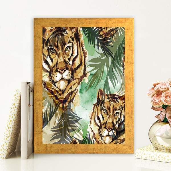AC722741896 Multicolor Decorative Framed MDF Painting
