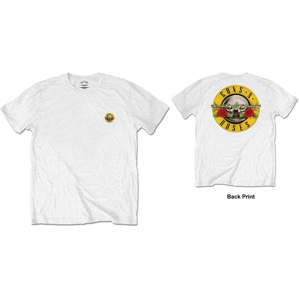 Guns N' Roses - Classic Logo Men's Small Short Sleeve T-Shirt - White