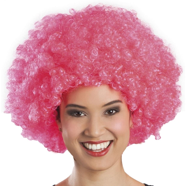 Afro Adult Wig One Size (Pink)