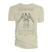 Doctor Who - Vitruvian Weeping Angel Women's Large T-Shirt - Sand