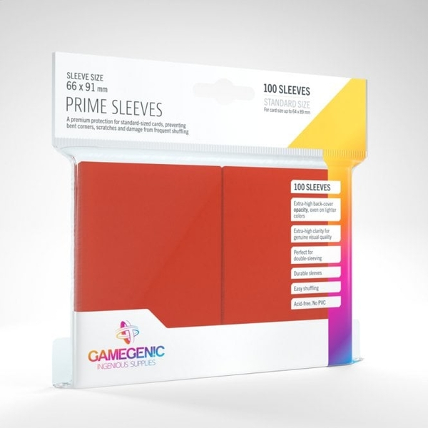 Gamegenic Prime Red - 100 Sleeves