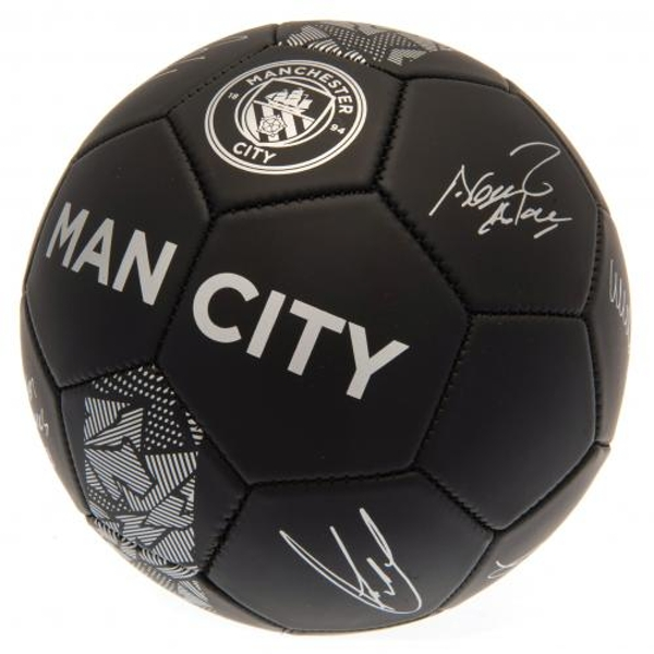 Manchester City FC Black Football Signature