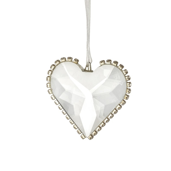 Cut Glass Heart With Edge Detail by Heaven Sends