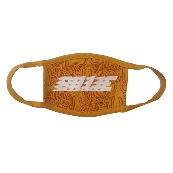 Billie Eilish - Racer Logo & Graffiti Yellow Face Mask - Yellow