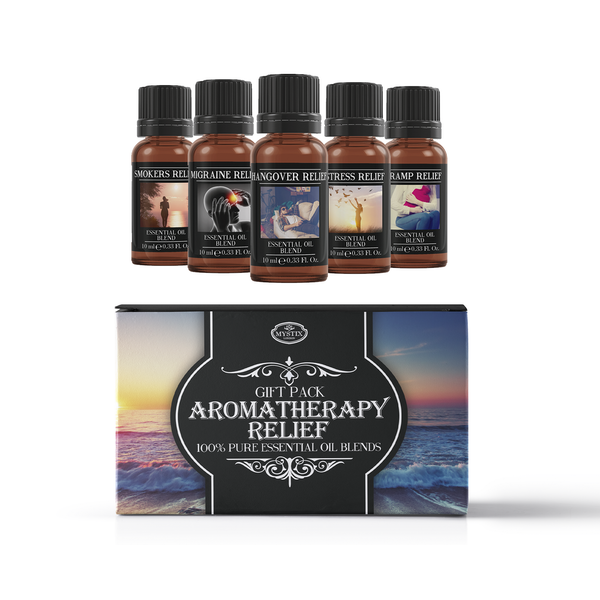 Mystic Moments Aromatherapy Relief Essential Oils Blend Gift Pack