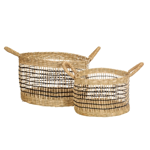 Sass & Belle Seagrass Open Weave Baskets | Set of 2
