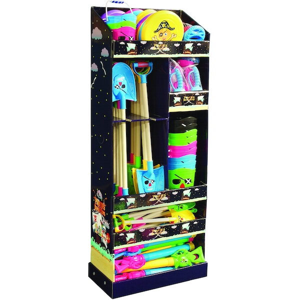 Pirate Beach Toy Display Unit (Toys not included)