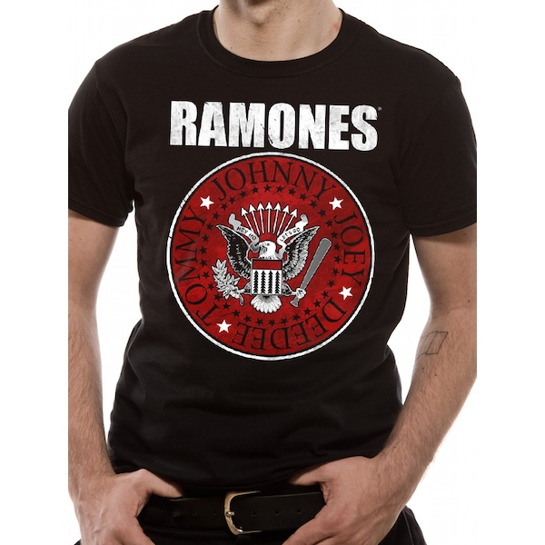 The Ramones - Red Fill Seal Men's Small T-Shirt - Black