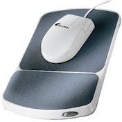 Fellowes Premium Gel Mouse Pad Wrist Support Graphite 91741