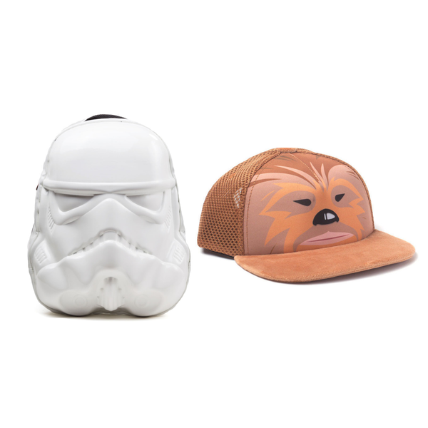 Star Wars Clothing Bundle - Stormtrooper Mask Backpack & Chewbacca Baseball Cap