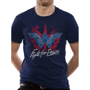 Wonder Woman Movie - Fight For Peace Men's Medium T-Shirt - Blue