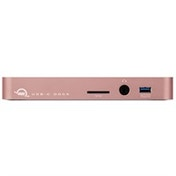 OWC OWCTCDK10PMDRG USB 3.0 (3.1 Gen 1) Type-C Black, Pink gold notebook dock/port replicator