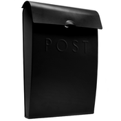 Outdoor Steel Mail Postbox | M&W Black