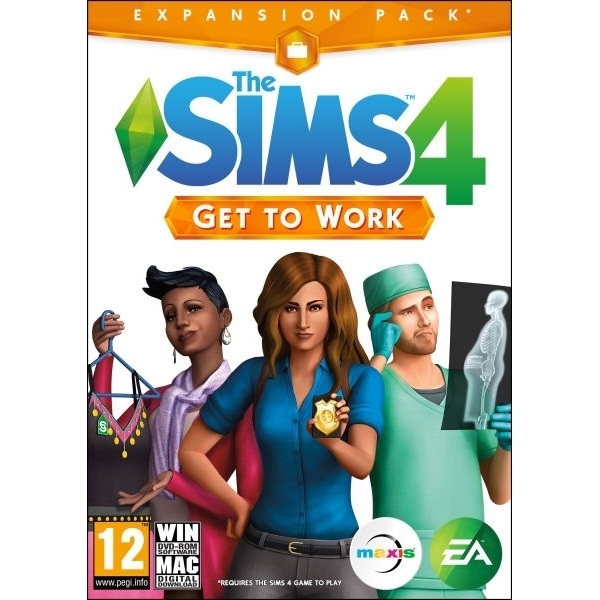 The Sims 4 Get To Work Expansion Pack PC Game (Boxed and Digital Code)
