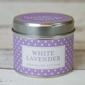 White Lavender (Polka Dot Collection) Tin Candle