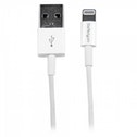 StarTech.com 1m White Apple Slim Lightning to USB Cable for iPhone iPad iPad-iPhone-iPod opladen-dat
