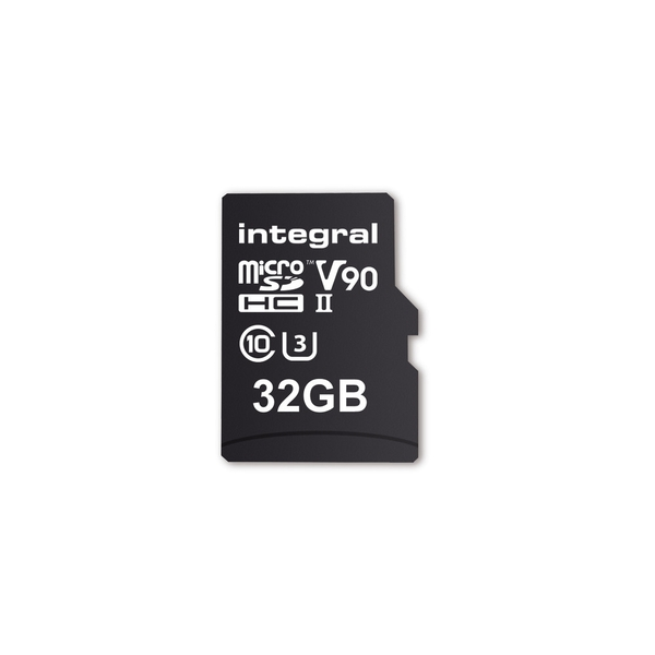 Integral 32GB Micro SD Card UHS II MicroSDHC Cl10 UHS 2 U3 V90 R-280 W-240 Mb/S Ultimapro
