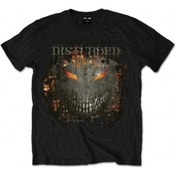Disturbed Fire Behind Mens Black T Shirt: Medium