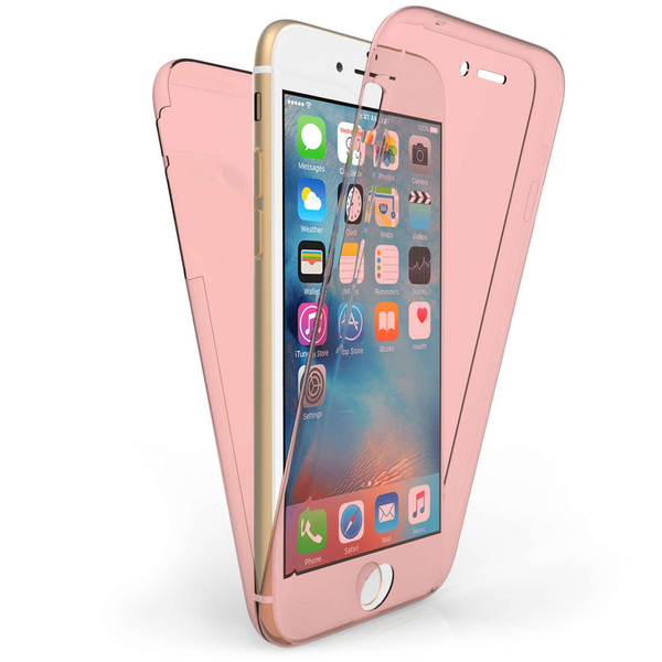 Compare prices with Phone Retailers Comaprison to buy a Apple iPhone 7 Full Body 360 TPU Gel Case - Rose Gold