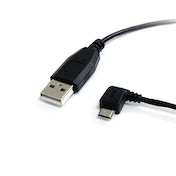 StarTech 3 ft Micro USB Cable A to Left Angle Micro B