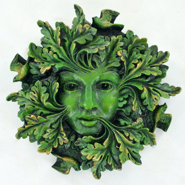Greenman Green Spirit Wall Plaque - Image 1