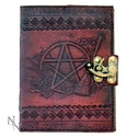 Pentagram Leather Emboss Journal Lock