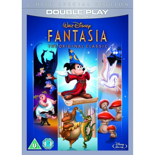 Fantasia DVD and Blu-ray with DVD Packaging