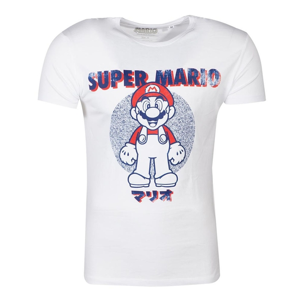 Nintendo - Anatomy Mario Unisex Medium T-Shirt - White