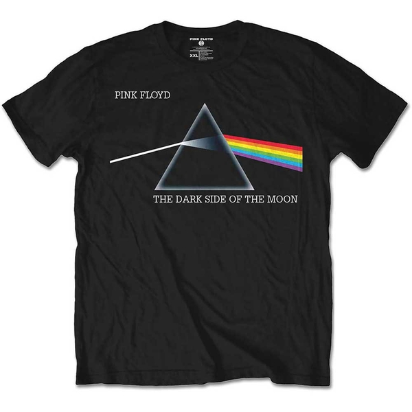 Pink Floyd - Dark Side of the Moon Courier Kids 5 - 6 Years T-Shirt - Black