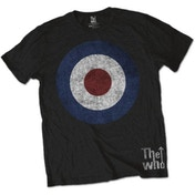 The Who Target Distressed Men's Small T-Shirt - Black